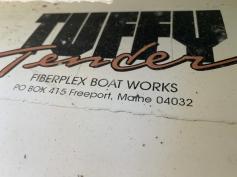 SOLD - Tuffy 8' Fiberglass Dinghy