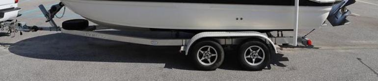 SOLD - Galvanized Double Axle Trailer