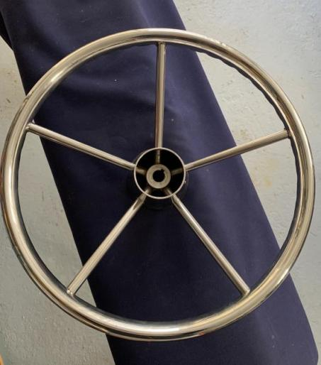 Stainless Steel Steering Wheel with Grips