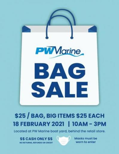 PW Marine Annual BAG SALE