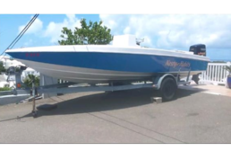 SOLD - 21ft Shadow racing hull